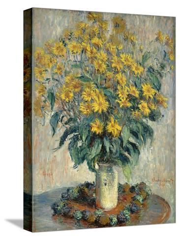 Jerusalem Artichoke Flowers, 1880-Claude Monet-Stretched Canvas Print