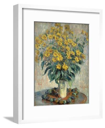 Jerusalem Artichoke Flowers, 1880-Claude Monet-Framed Art Print
