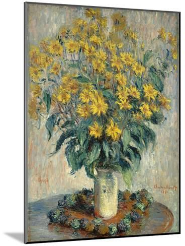 Jerusalem Artichoke Flowers, 1880-Claude Monet-Mounted Giclee Print