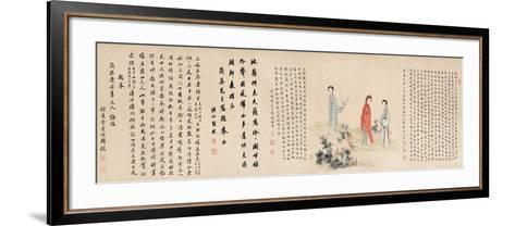Yuan Mei and His Female Students- Yuan Mei, You Zhao and Wang Gong-Framed Art Print
