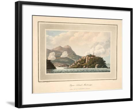 Pigeon Island, Martinique, Illustration from 'An Account of the Campaign in the West Indies' by…-Cooper Willyams-Framed Art Print