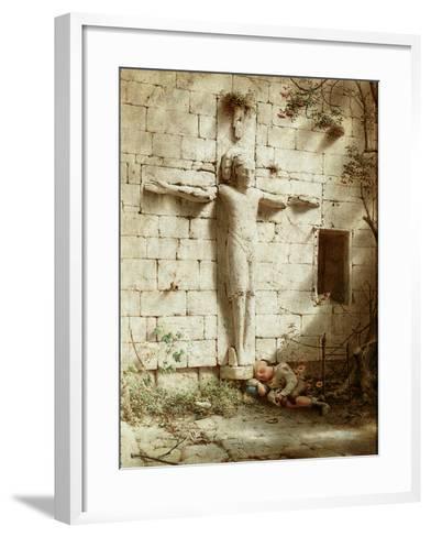 At Romsey Abbey, 1899-Robert Bateman-Framed Art Print
