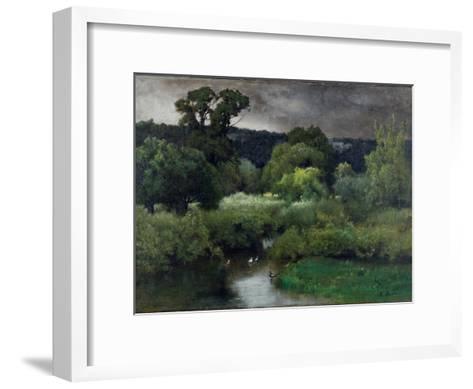 A Grey Lowery Day, 1877-George Snr^ Inness-Framed Art Print