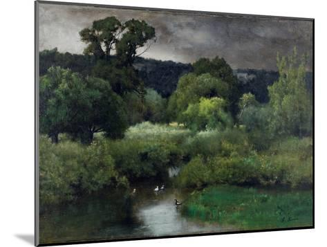 A Grey Lowery Day, 1877-George Snr^ Inness-Mounted Giclee Print