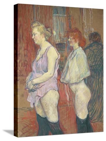 Rue Des Moulins, 1894-Henri de Toulouse-Lautrec-Stretched Canvas Print