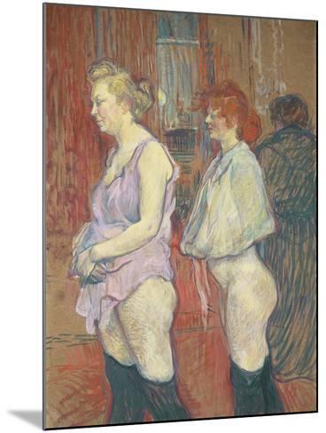 Rue Des Moulins, 1894-Henri de Toulouse-Lautrec-Mounted Giclee Print