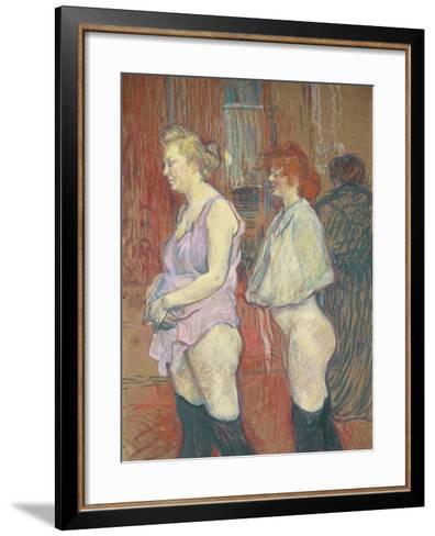 Rue Des Moulins, 1894-Henri de Toulouse-Lautrec-Framed Art Print