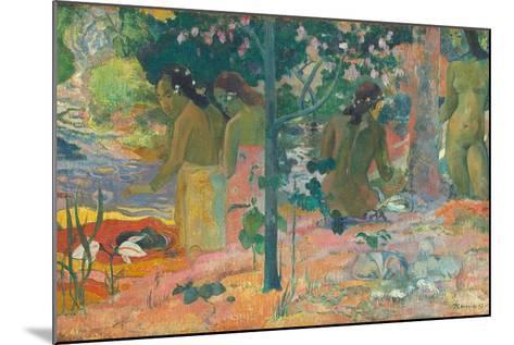 The Bathers, 1897-Paul Gauguin-Mounted Giclee Print