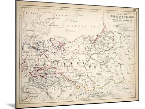 Map of Prussia and Poland, Published by William Blackwood and Sons, Edinburgh and London, 1848-Alexander Keith Johnston-Mounted Giclee Print