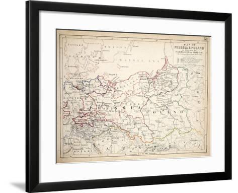 Map of Prussia and Poland, Published by William Blackwood and Sons, Edinburgh and London, 1848-Alexander Keith Johnston-Framed Art Print