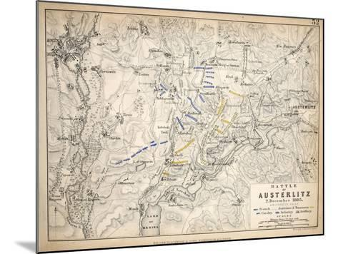 Map of the Battle of Austerlitz, Published by William Blackwood and Sons, Edinburgh and London,?-Alexander Keith Johnston-Mounted Giclee Print