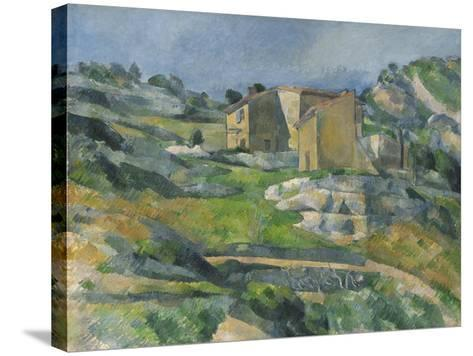 Houses in the Provence: the Riaux Valley Near L'Estaque, C.1833-Paul C?zanne-Stretched Canvas Print