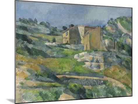 Houses in the Provence: the Riaux Valley Near L'Estaque, C.1833-Paul C?zanne-Mounted Giclee Print