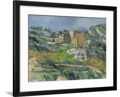 Houses in the Provence: the Riaux Valley Near L'Estaque, C.1833-Paul C?zanne-Framed Art Print