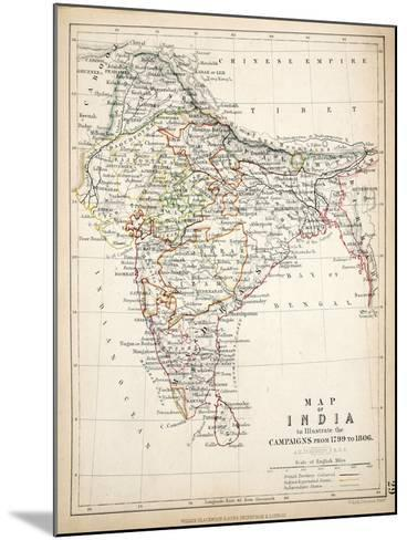 Map of India, Published by William Blackwood and Sons, Edinburgh and London, 1848-Alexander Keith Johnston-Mounted Giclee Print