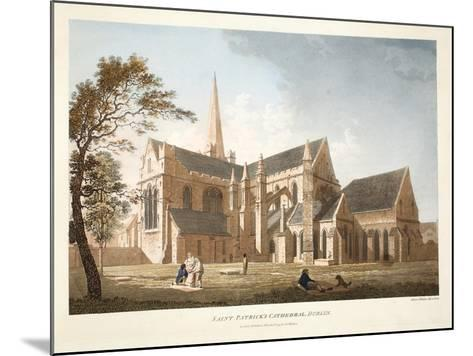 Saint Patrick's Cathedral, Dublin, 1793-James Malton-Mounted Giclee Print
