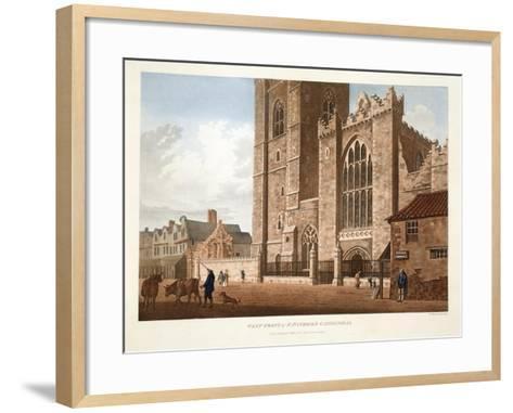 West Front of St. Patrick's Cathedral, Dublin, 1793-James Malton-Framed Art Print