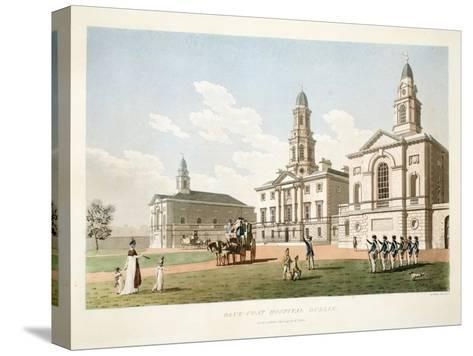 Blue-Coat Hospital, Dublin, 1798-James Malton-Stretched Canvas Print