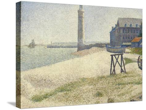 The Lighthouse at Honfleur, 1886-Georges Seurat-Stretched Canvas Print