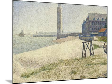 The Lighthouse at Honfleur, 1886-Georges Seurat-Mounted Giclee Print