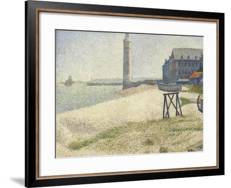 The Lighthouse at Honfleur, 1886-Georges Seurat-Framed Art Print
