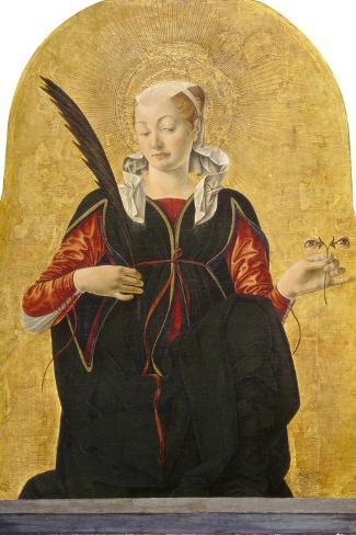 St Lucy, C. 1473- 74-Francesco del Cossa-Stretched Canvas Print