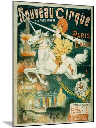 Nouveau Cirque, 1889--Mounted Giclee Print