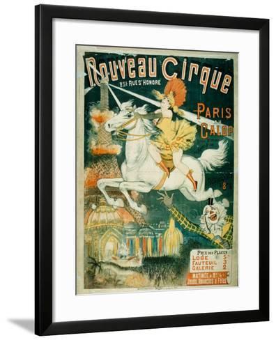 Nouveau Cirque, 1889--Framed Art Print