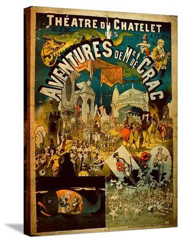 Adventures of Mr De Crac - French Circus Poster--Stretched Canvas Print
