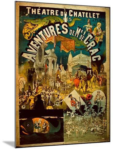 Adventures of Mr De Crac - French Circus Poster--Mounted Giclee Print