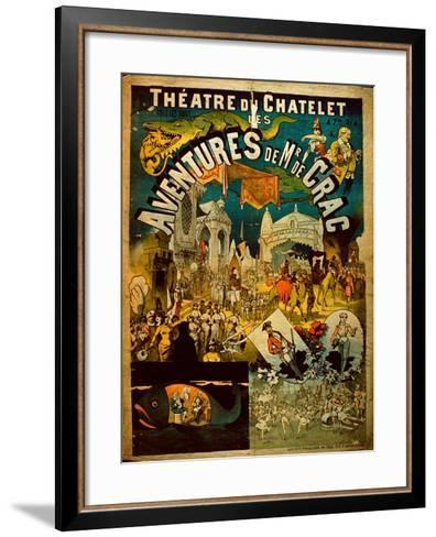 Adventures of Mr De Crac - French Circus Poster--Framed Art Print
