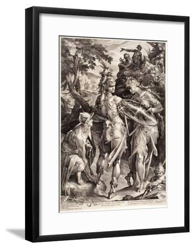 Minerva and Mercury Arming Perseus, 1604-Jan Harmensz Muller-Framed Art Print
