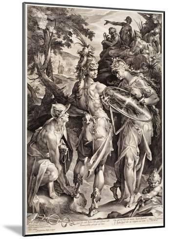 Minerva and Mercury Arming Perseus, 1604-Jan Harmensz Muller-Mounted Giclee Print