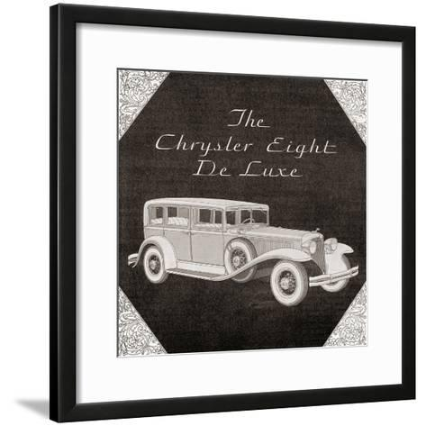 A 1930's Advertisement for a Chrysler Eight De Luxe Car. from the Literary Digest Published 1931--Framed Art Print