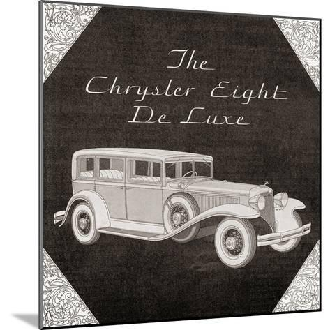 A 1930's Advertisement for a Chrysler Eight De Luxe Car. from the Literary Digest Published 1931--Mounted Giclee Print
