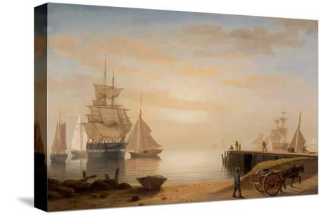 View of Gloucester Harbor, 1852-Fitz Henry Lane-Stretched Canvas Print