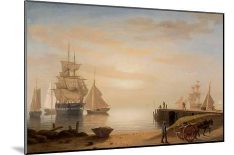 View of Gloucester Harbor, 1852-Fitz Henry Lane-Mounted Giclee Print