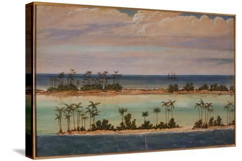 Triptych of an Atoll, 1871-Ernest Henry Griset-Stretched Canvas Print