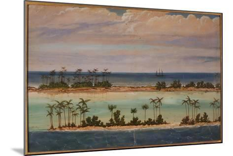 Triptych of an Atoll, 1871-Ernest Henry Griset-Mounted Giclee Print
