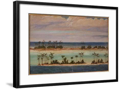 Triptych of an Atoll, 1871-Ernest Henry Griset-Framed Art Print