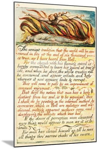 Illustration from 'The Marriage of Heaven and Hell', C.1808-William Blake-Mounted Giclee Print