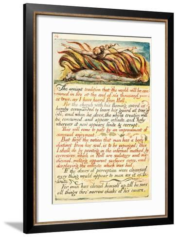 Illustration from 'The Marriage of Heaven and Hell', C.1808-William Blake-Framed Art Print