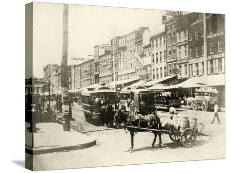 Front and Market Streets, 1881--Stretched Canvas Print