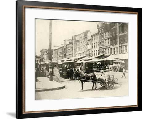 Front and Market Streets, 1881--Framed Art Print