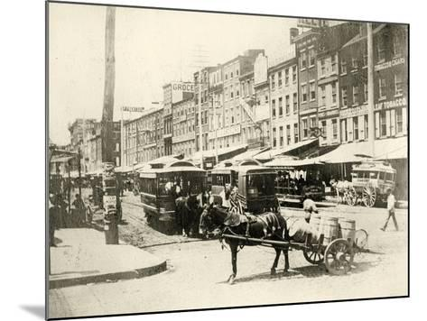 Front and Market Streets, 1881--Mounted Giclee Print