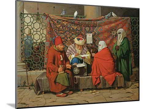 A Turkish Notary Drawing Up a Marriage Contract in Front of the Kilic Ali Pasha Mosque, Tophane,…-Martinus Rorbye-Mounted Giclee Print