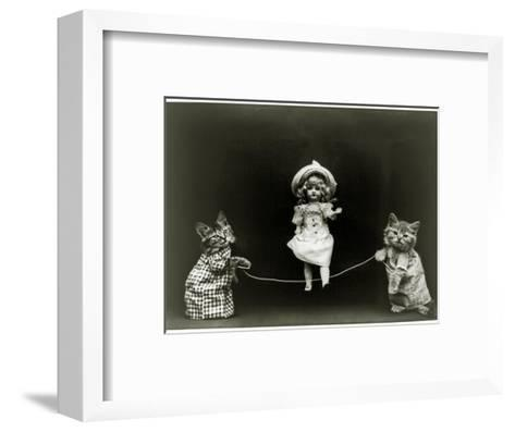 Kittens and a Doll Skipping, 1891--Framed Art Print