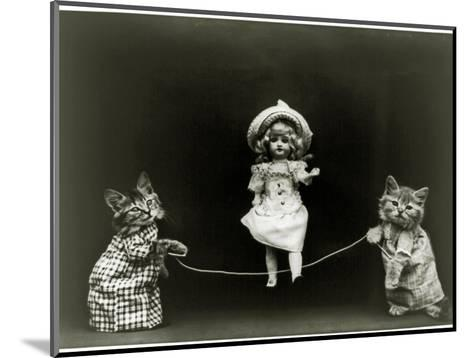Kittens and a Doll Skipping, 1891--Mounted Photographic Print