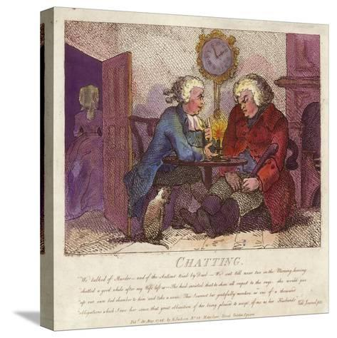 Chatting from Boswell's Hebridean Journey-Thomas Rowlandson-Stretched Canvas Print