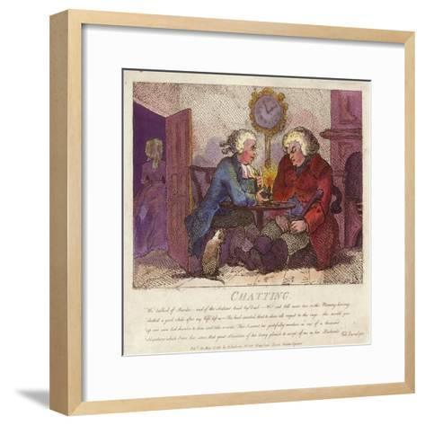 Chatting from Boswell's Hebridean Journey-Thomas Rowlandson-Framed Art Print